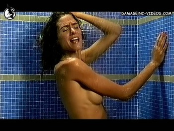 Argentina actress Florencia Raggi naked in the shower
